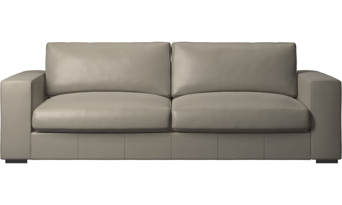 3 seater sofas - Cenova sofa - Grey - Leather
