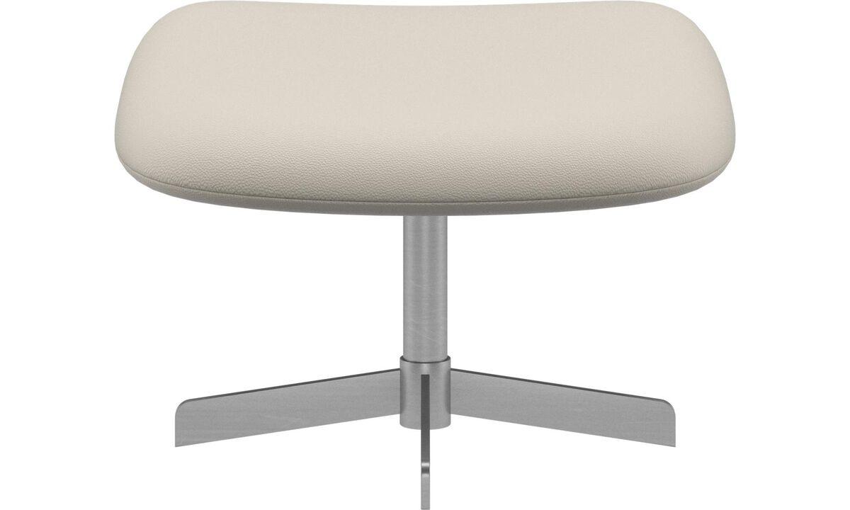 Footstools - Athena footstool - White - Leather
