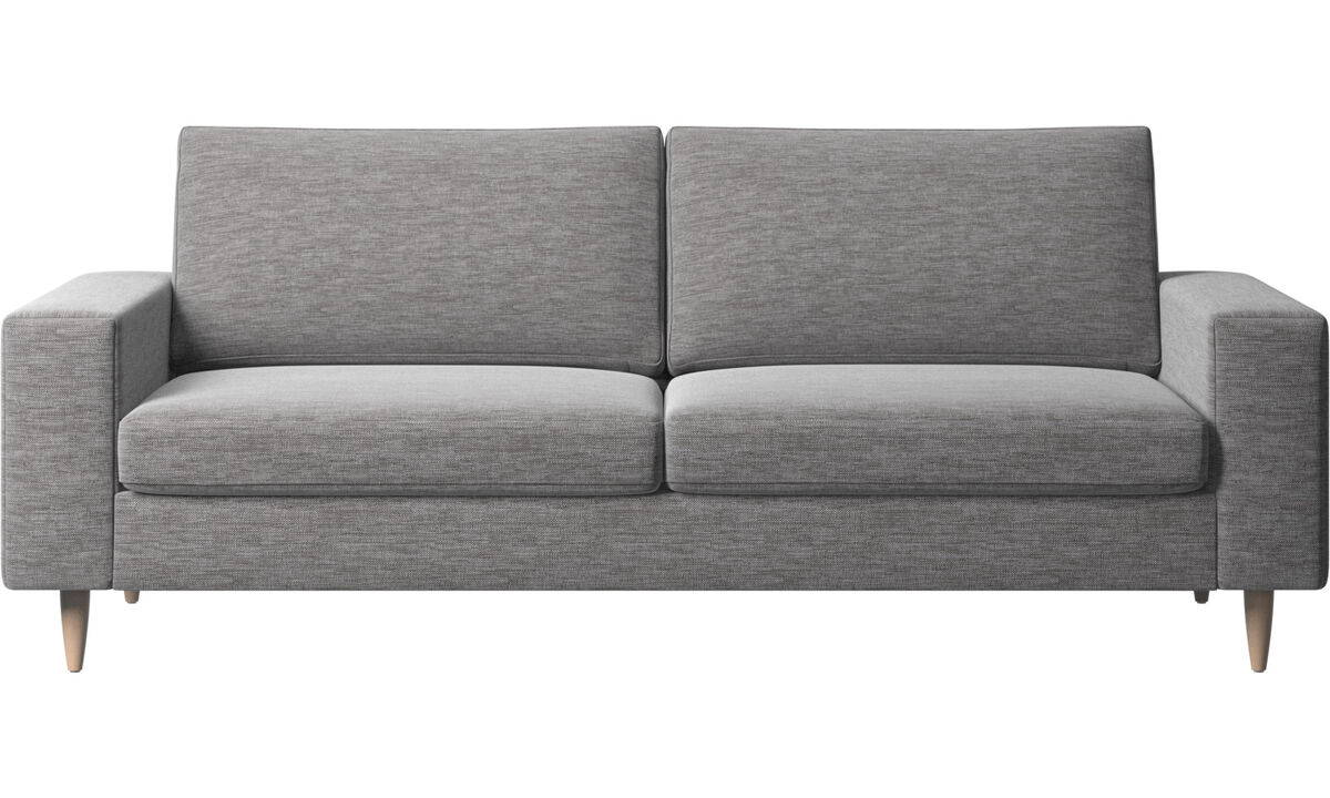 2.5 seater sofas - Indivi 2 sofa - Grey - Fabric