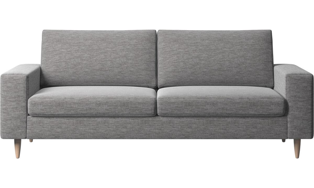 Sofy 2½-osobowe - sofa Indivi 2 - Szary - Tkanina