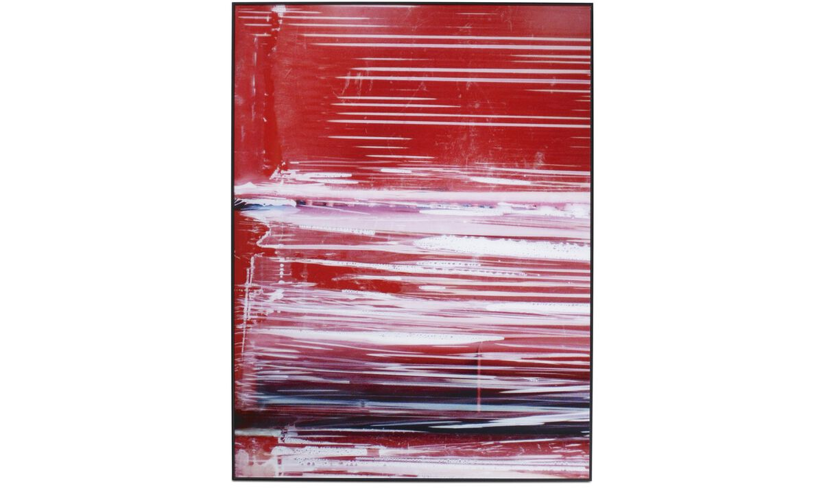 Gallery - Industrial 1 glass art - Red - Wood