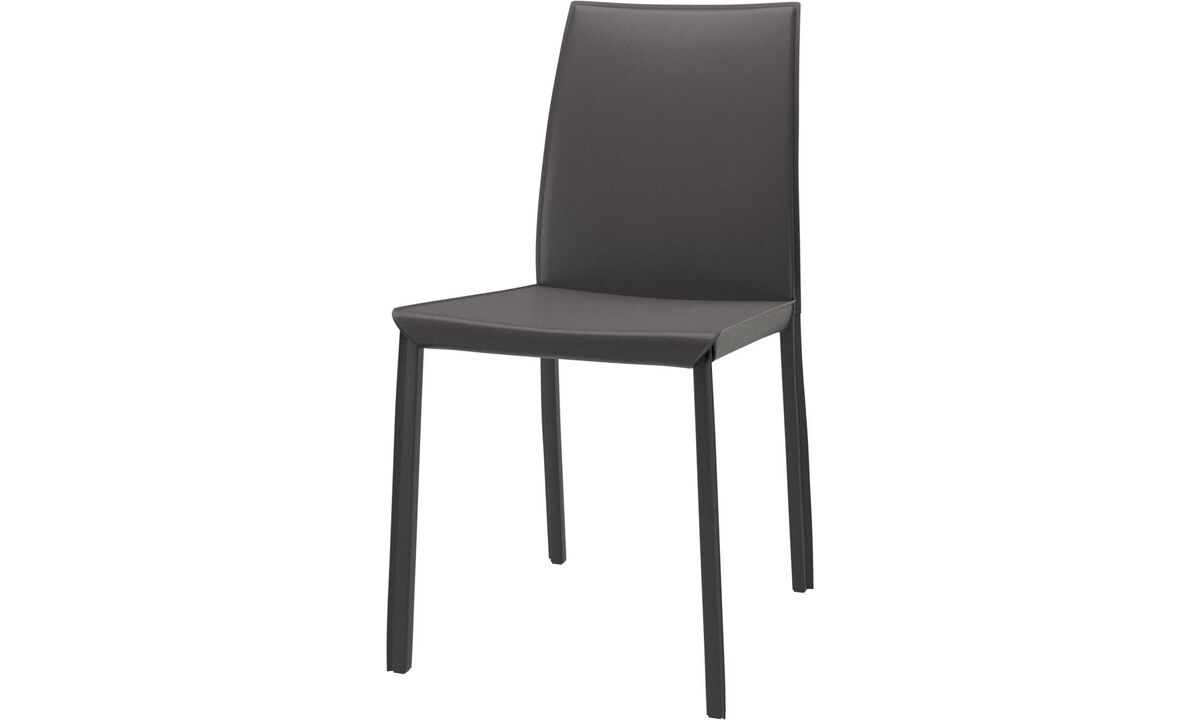 Dining chairs - Zarra chair - Gray - Bonded leather
