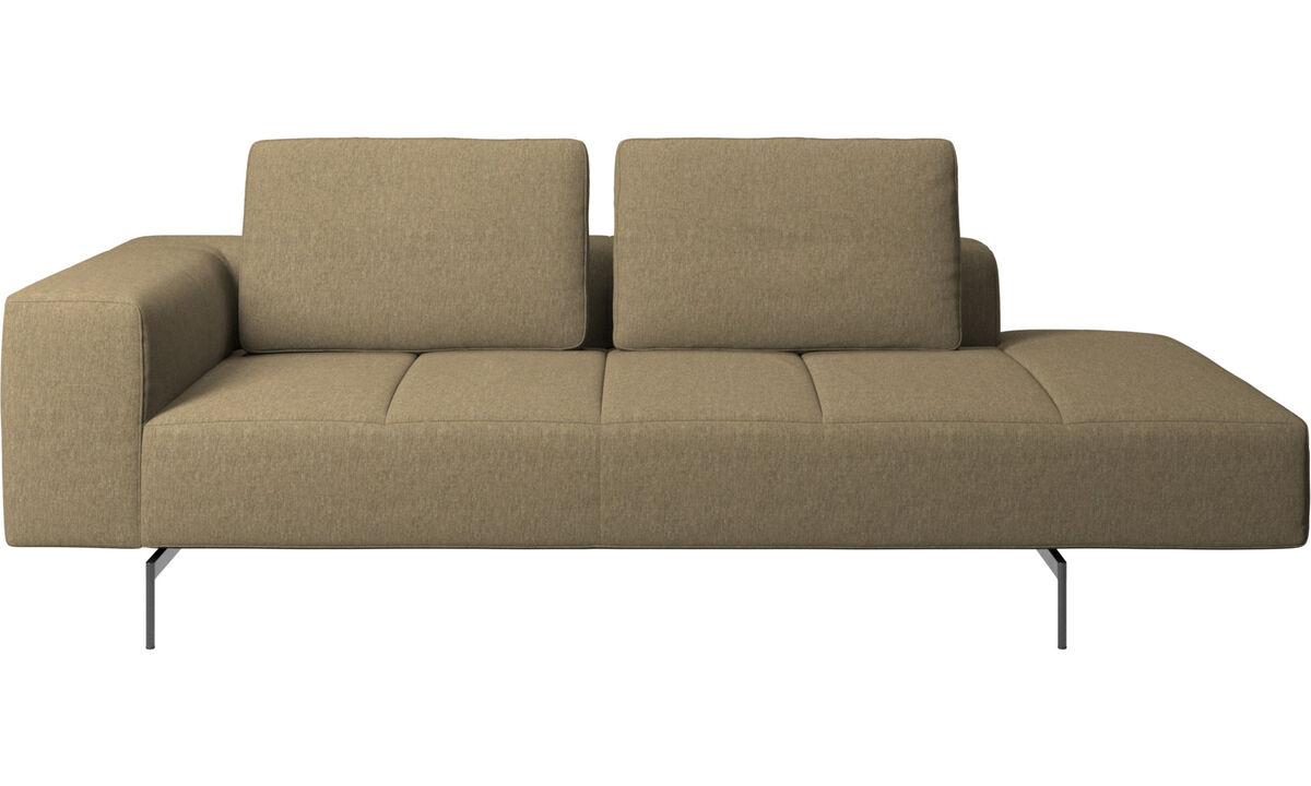 Modular sofas - Amsterdam resting module for sofa, armrest left, open end right - Green - Fabric