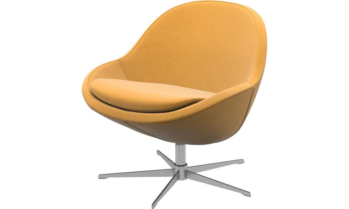 Armchairs - Veneto chair with swivel function - Yellow - Fabric