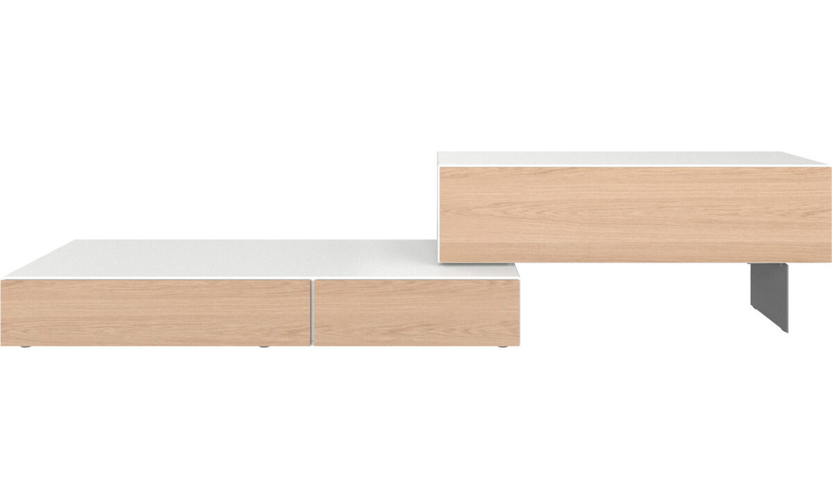 Wall systems - Lugano wall system with drop down doors - White - Lacquered