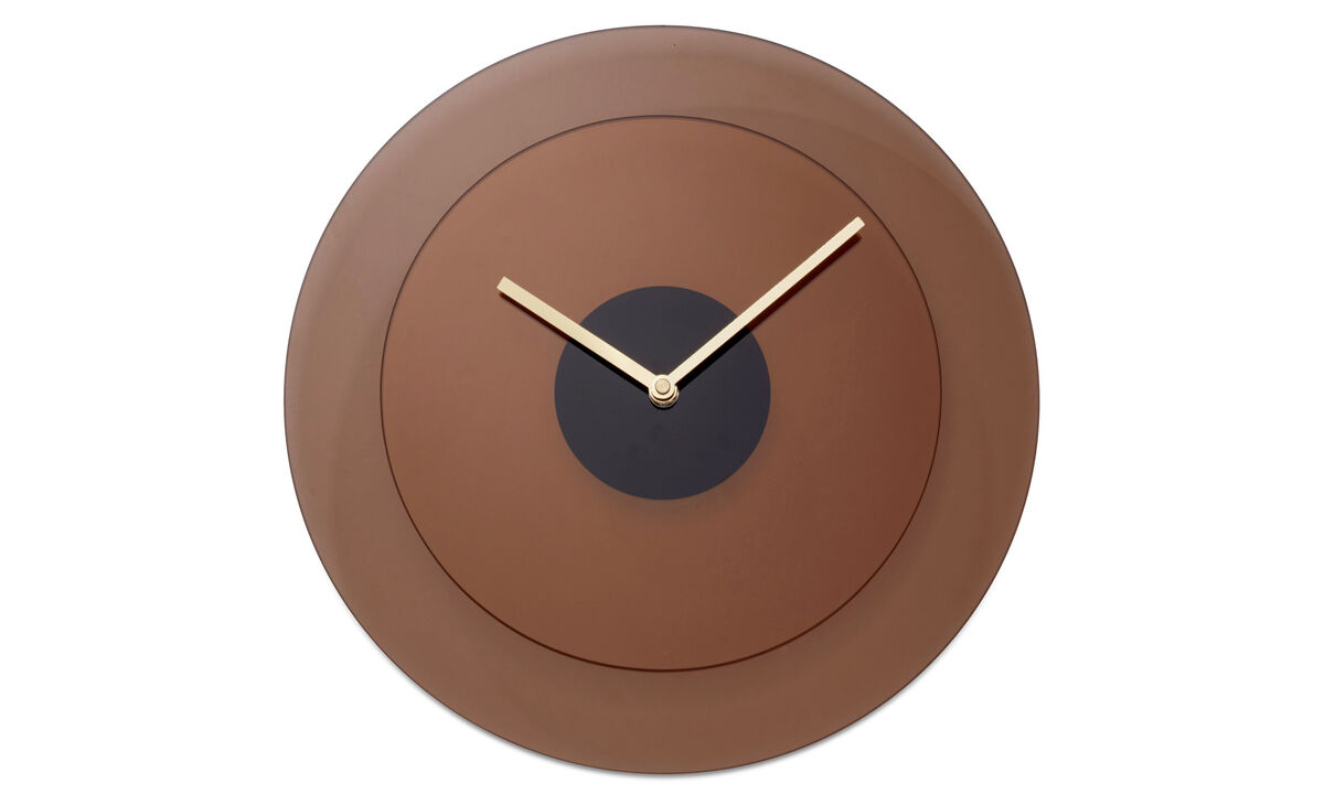 Decoration - Layer wall clock - Orange - Glass
