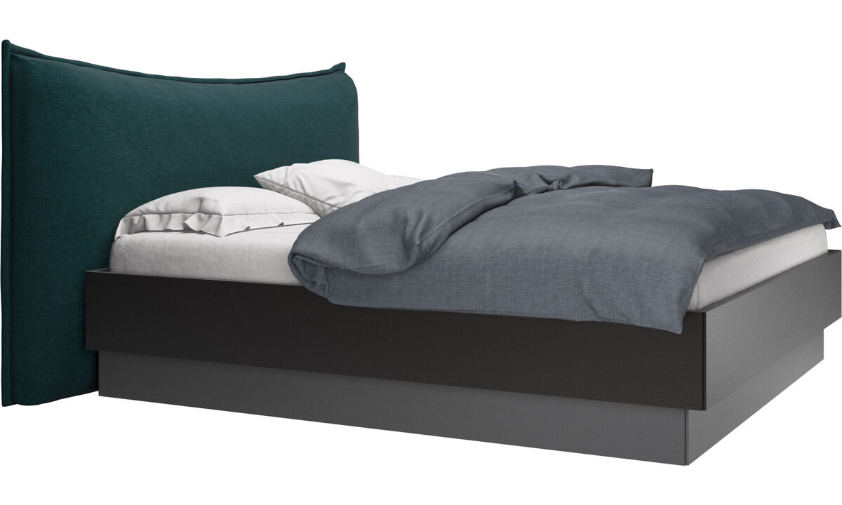 New beds - Gent storage bed with lift-up frame and slats, excl. mattress - Blue - Fabric