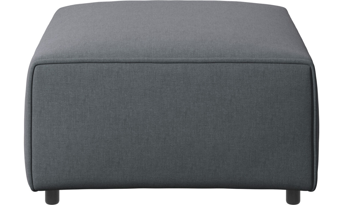 Armchairs and footstools - Carmo footstool - Grey - Fabric