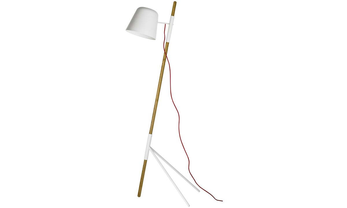 Lamps - Outrigger floor lamp - Brown - Oak