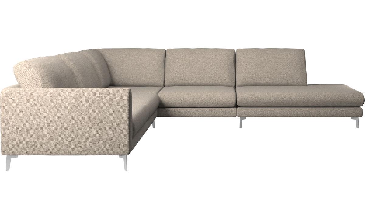 Угловые диваны - Угловой диван Fargo с модулем для отдыха - Бежевого цвета - Tкань