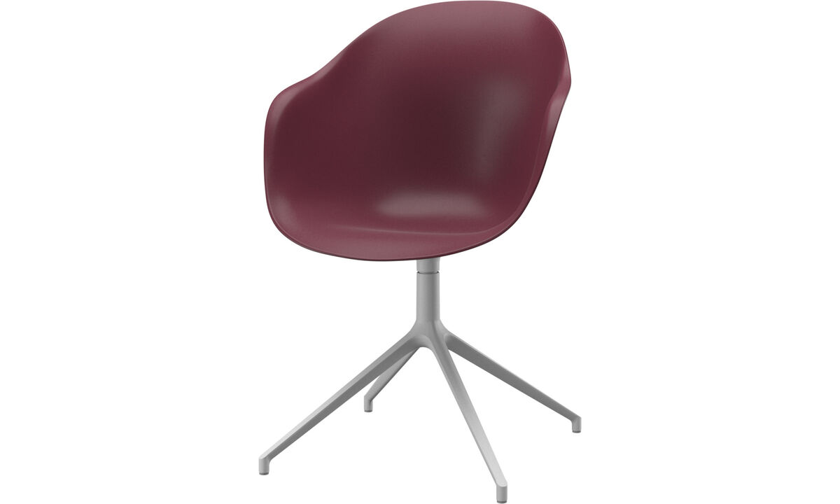 Dining chairs - Adelaide chair with swivel function - Red - Plastic