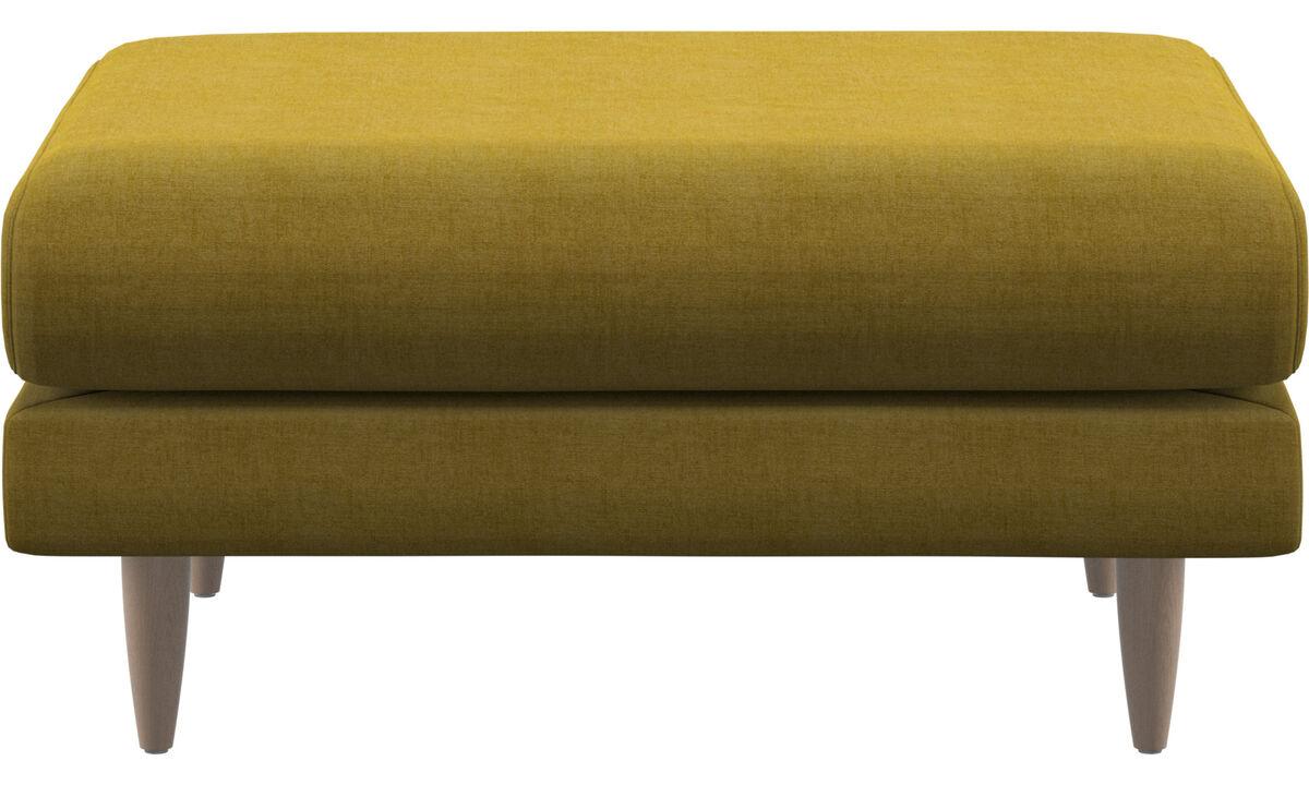 Footstools - Fargo footstool - Yellow - Fabric
