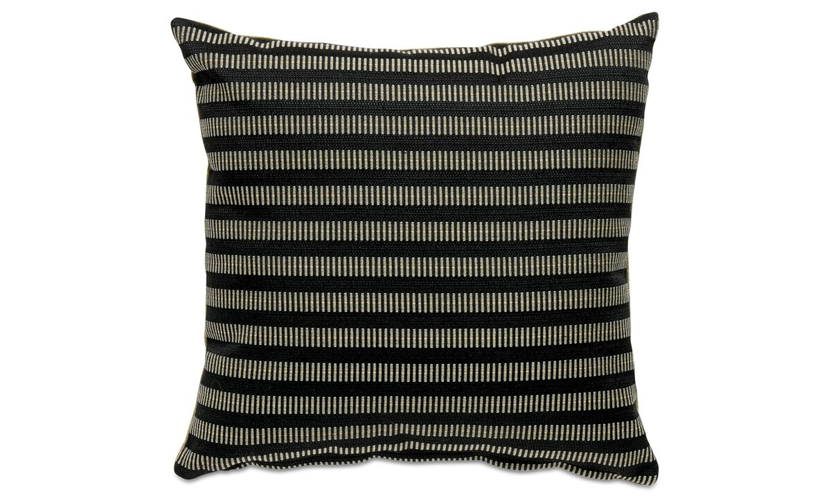 Patterned cushions - Living cushion - Black - Fabric