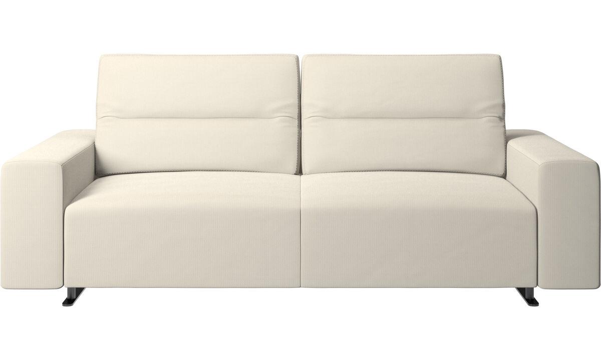 New designs - Hampton sofa with adjustable back - White - Fabric