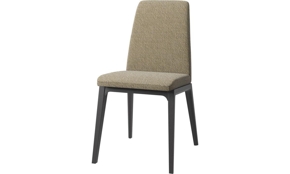 Krzesła do jadalni - Krzesło Lausanne - Żółty - Tkanina