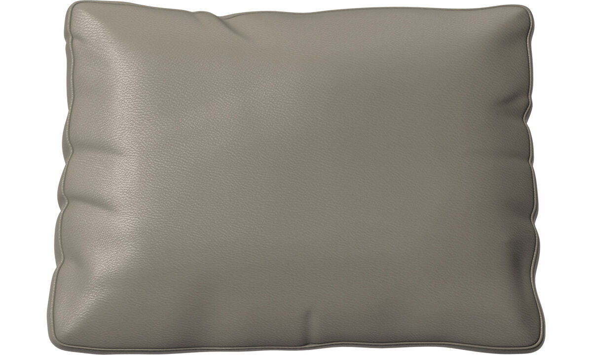 Furniture accessories - Miami cushion - Grey - Leather