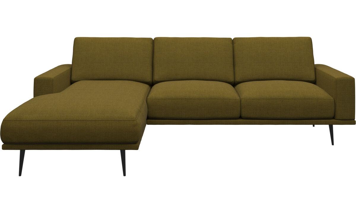 Sofas mit Récamiere - Carlton Sofa mit Ruhemodul - Gelb - Stoff