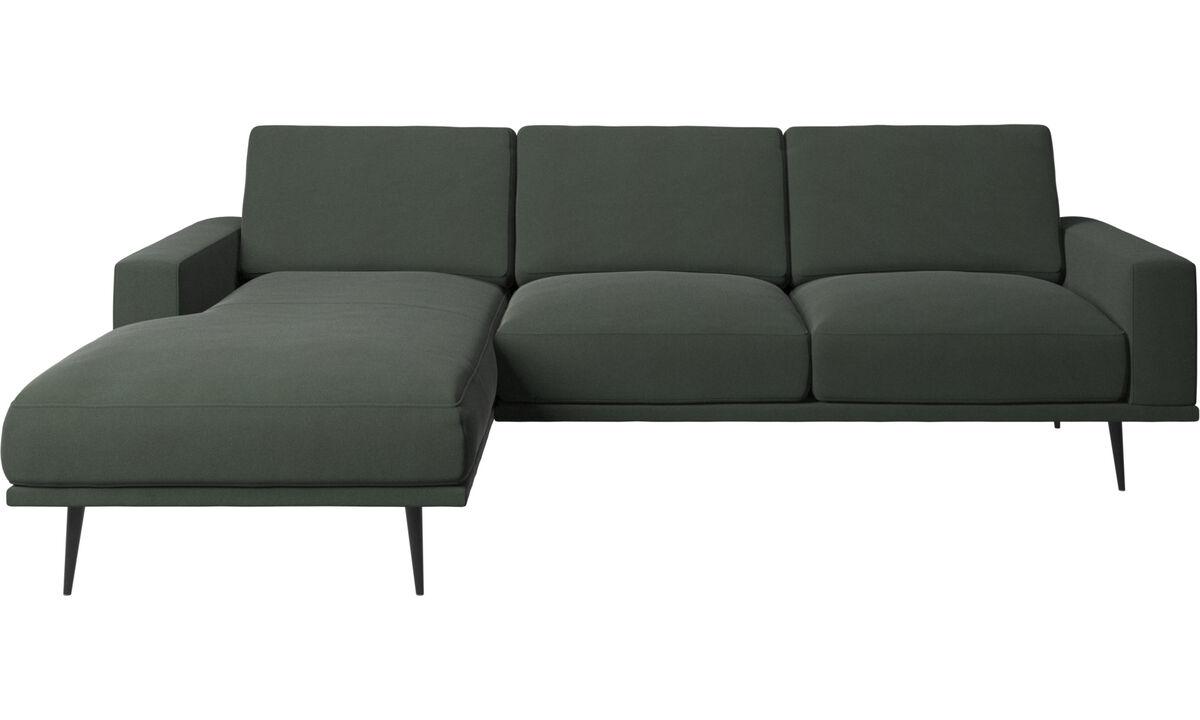 Sofás con chaise longue - sofá Carlton con módulo chaise-longue - En verde - Tela