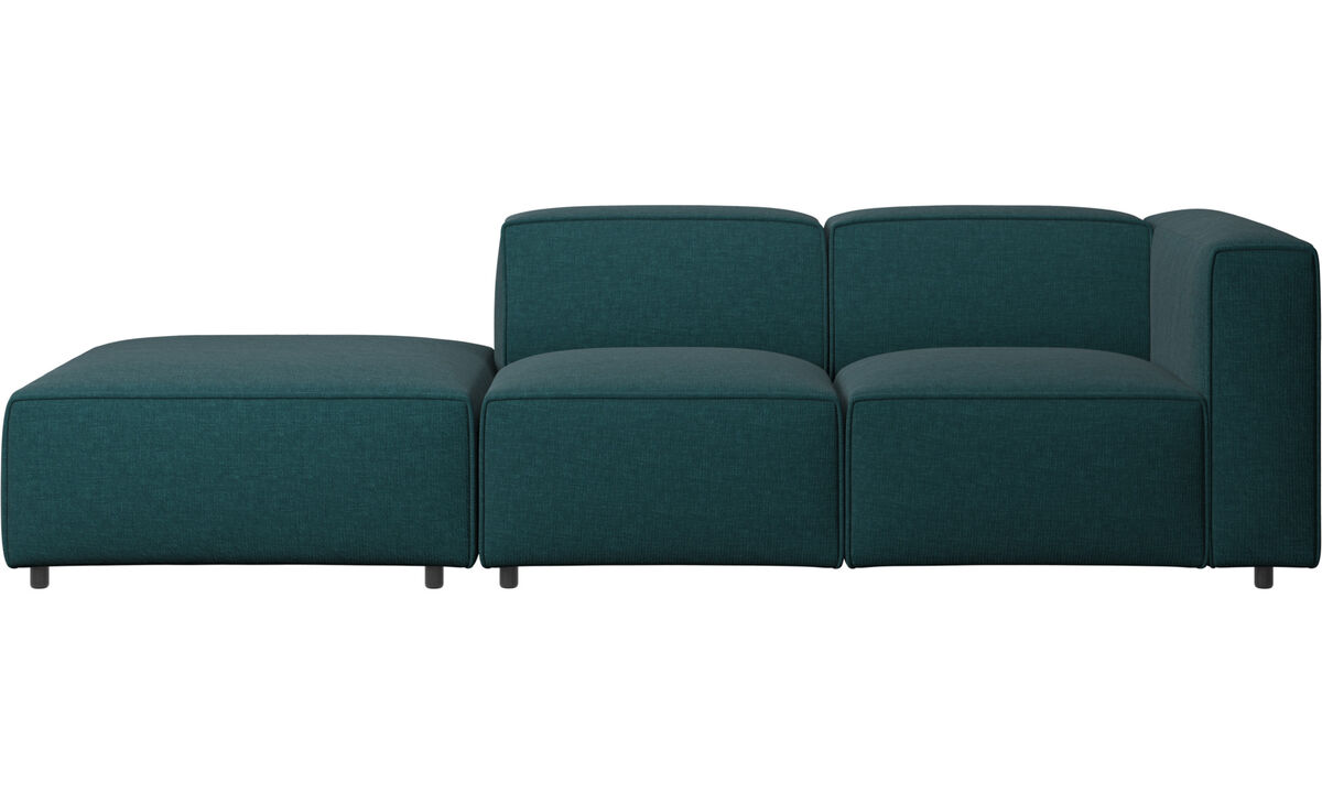 Sofas with open end - Carmo motion sofa - Blue - Fabric