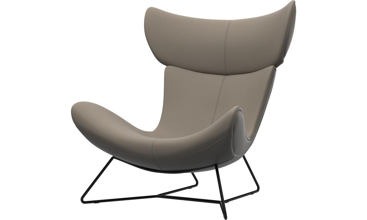 Fotele - Fotel Imola - Beżowy - Skóra
