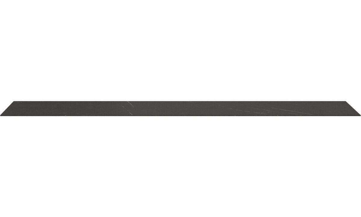 Furniture accessories - Lugano top plate - Black - Ceramic