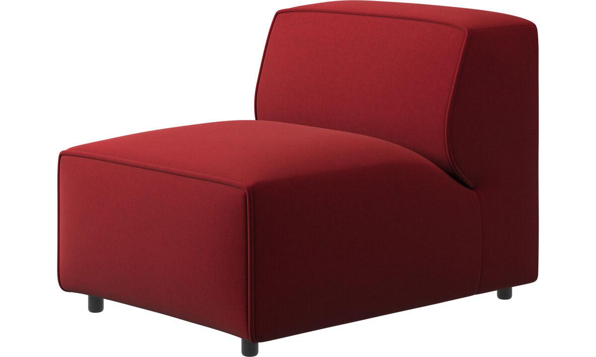 Sillones - Silla/módulo básico Carmo - Rojo - Tela