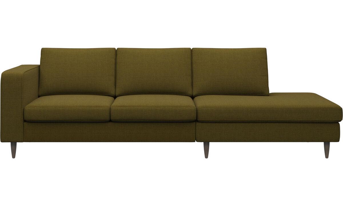 Sofas with open end - Indivi divano con lounge - Giallo - Tessuto