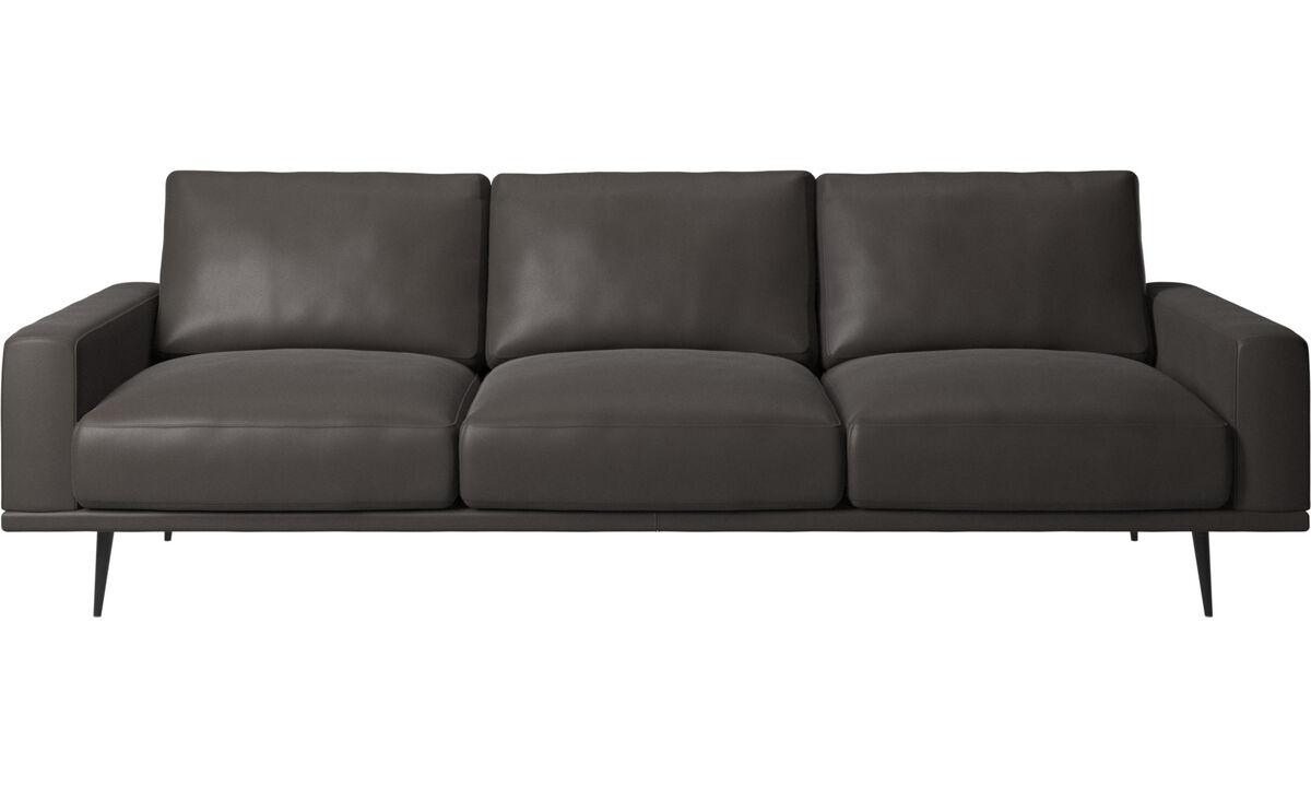 3 seater sofas - Carlton sofa - Brown - Leather