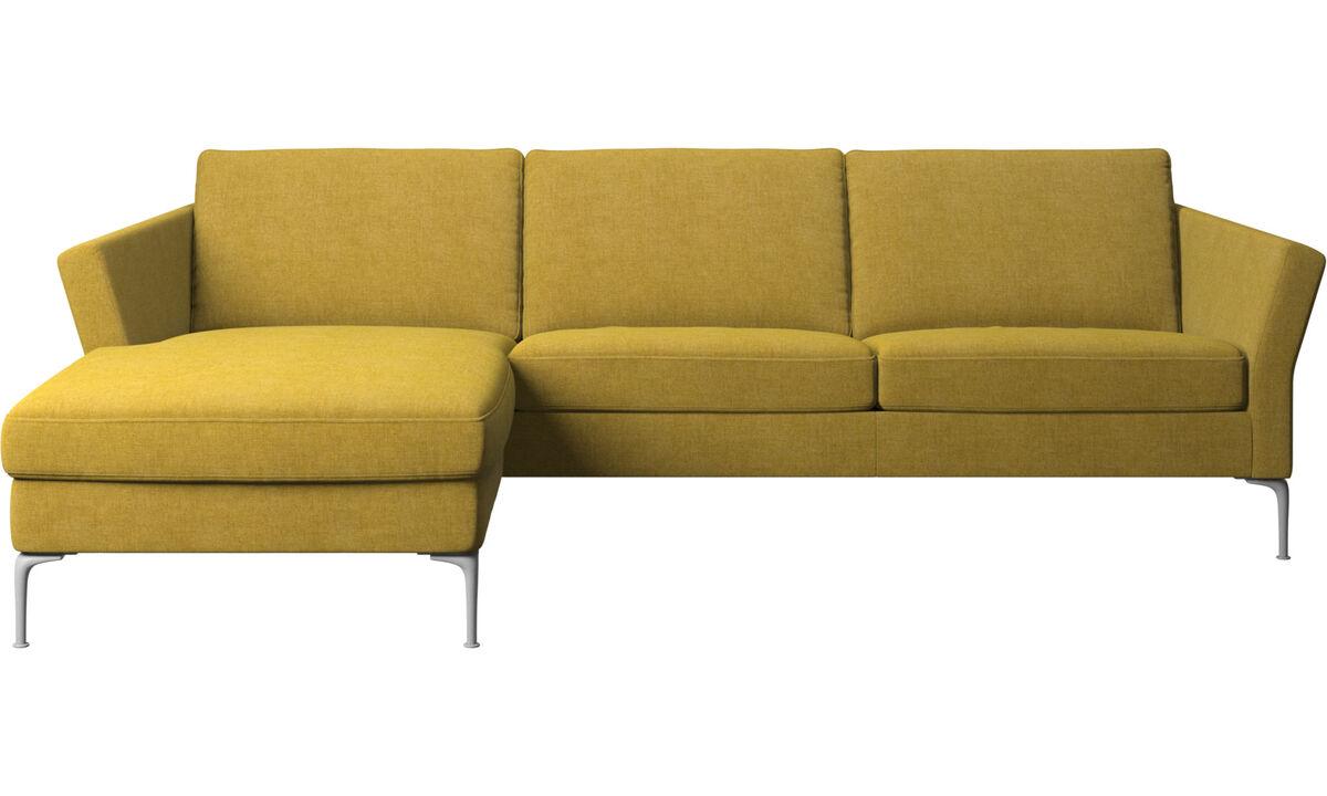 Sofás con chaise longue - sofá Marseille con módulo chaise-longue - En amarillo - Tela