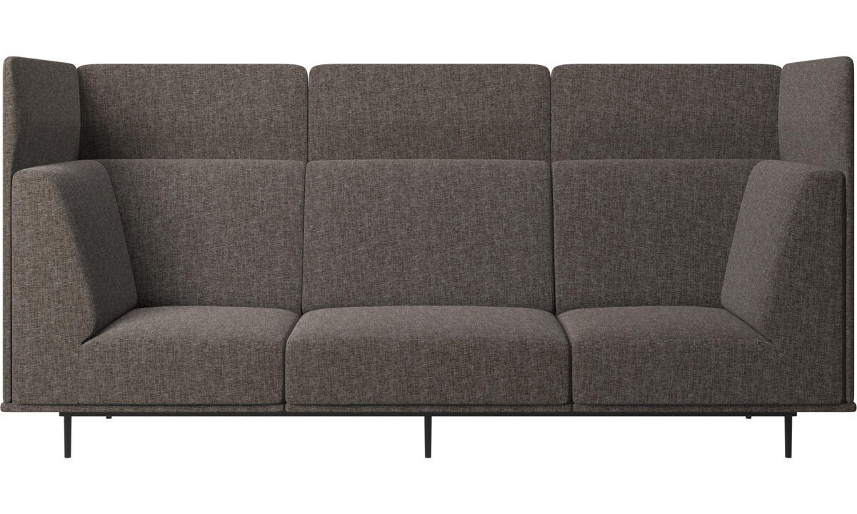 3 seater sofas - Toulouse sofa - Brown - Fabric