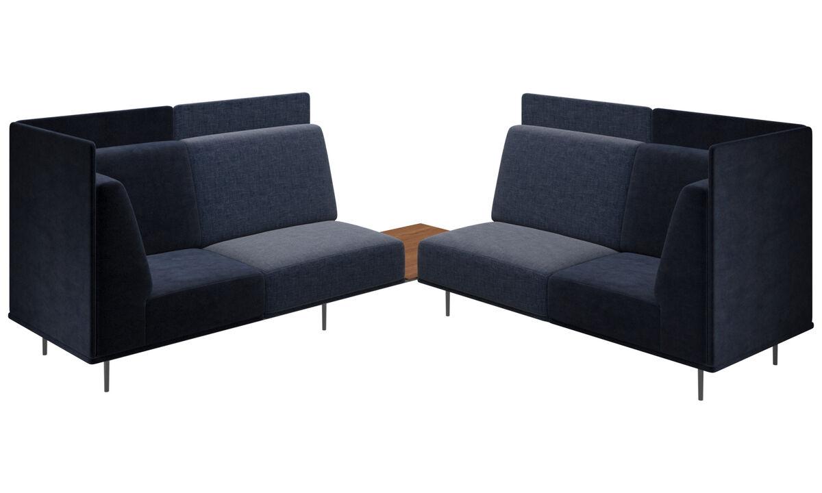 Modulare Sofas - Toulouse Sofa - Blau - Stoff