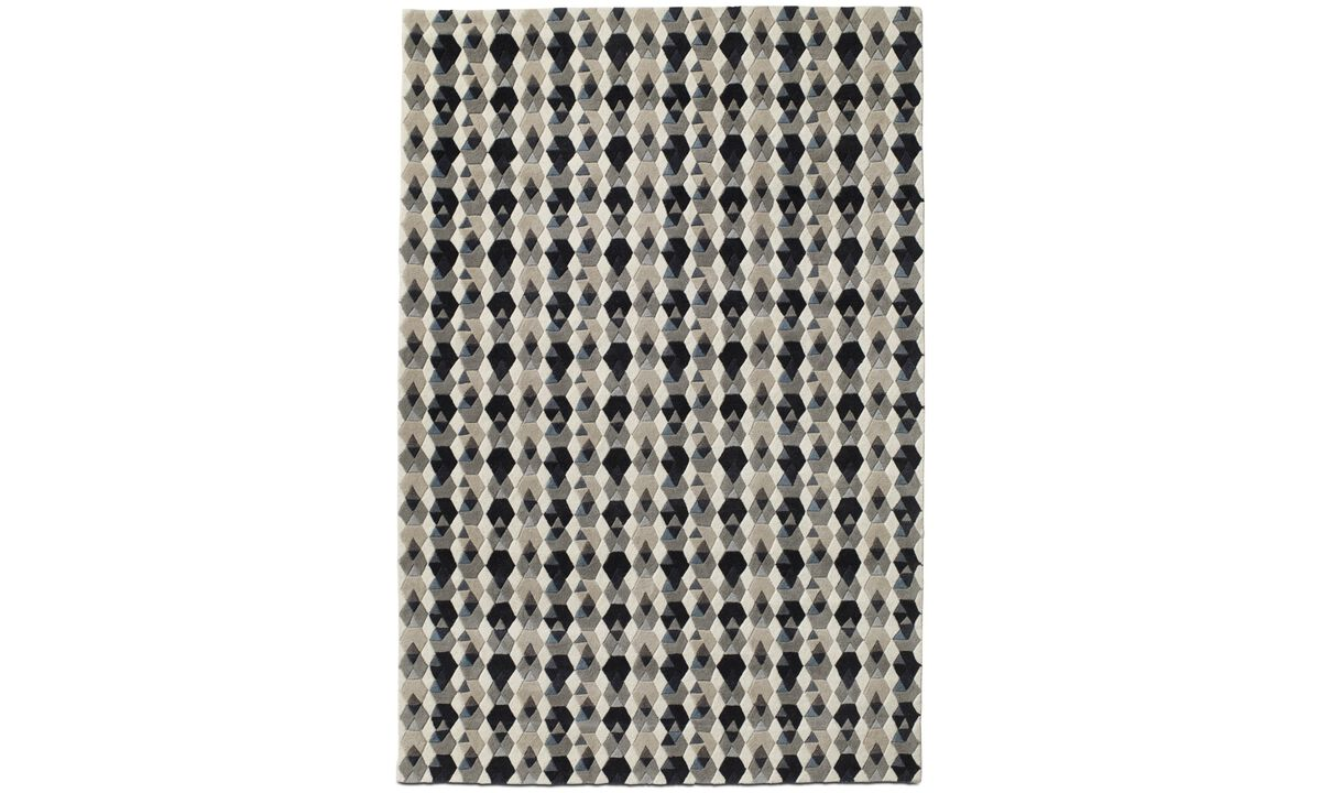 Rectangular rugs - Rombe rug - rectangular - Grey - Fabric