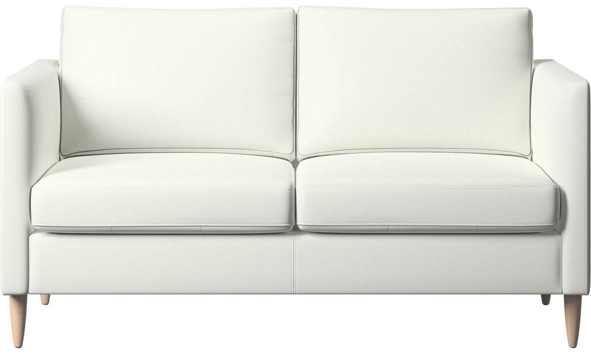 Sofás de 2 plazas - sofá Indivi - Blanco - Piel