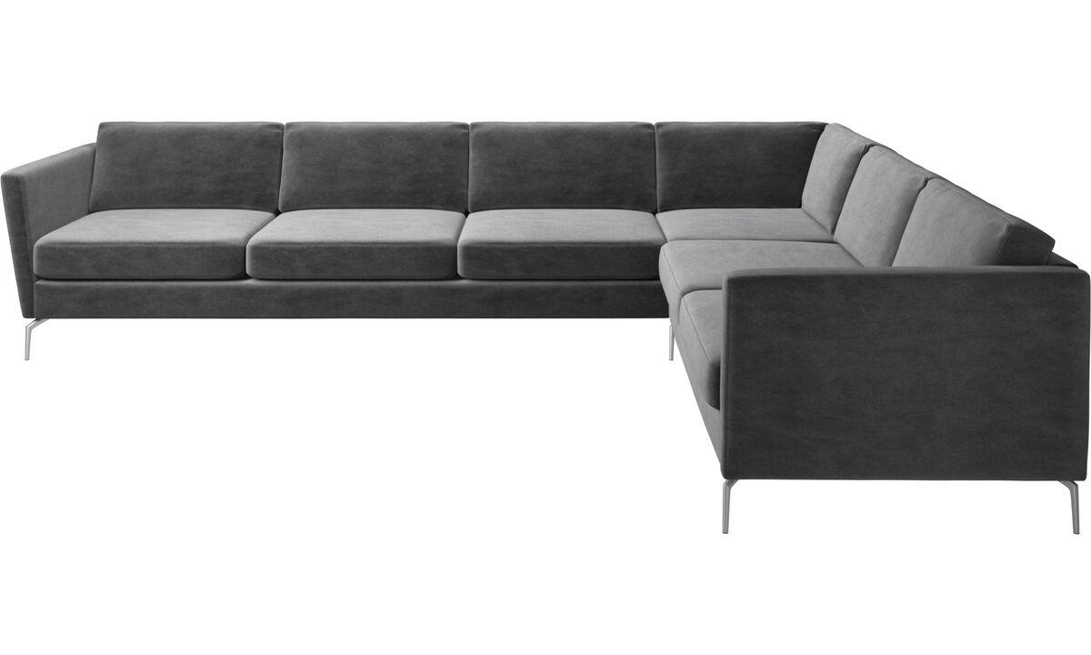 Corner sofas - Osaka corner sofa, regular seat - Grey - Fabric
