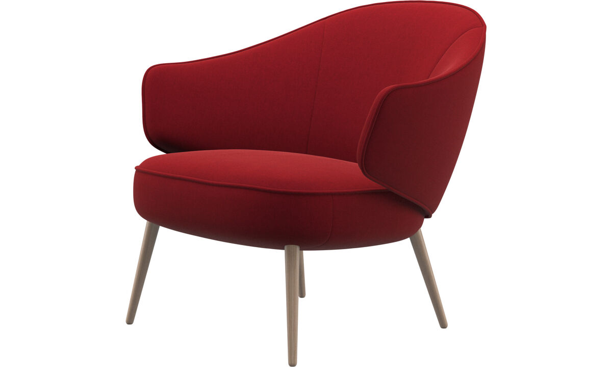Armchairs - Charlotte chair - Red - Fabric