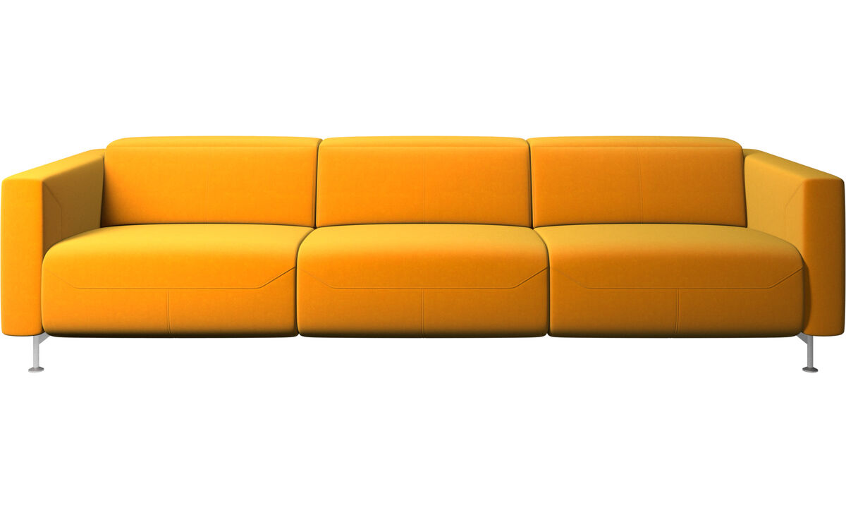 Recliner sofas - Parma reclining sofa - Orange - Fabric