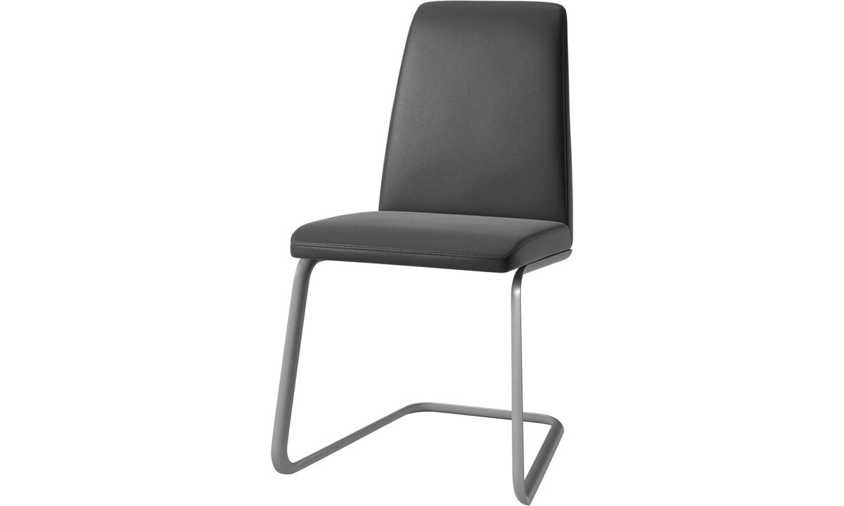 Dining chairs - Lausanne chair - Black - Leather