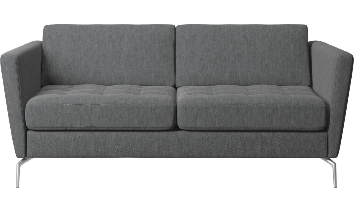 Sofas - Osaka sofa, tufted seat - Grey - Fabric