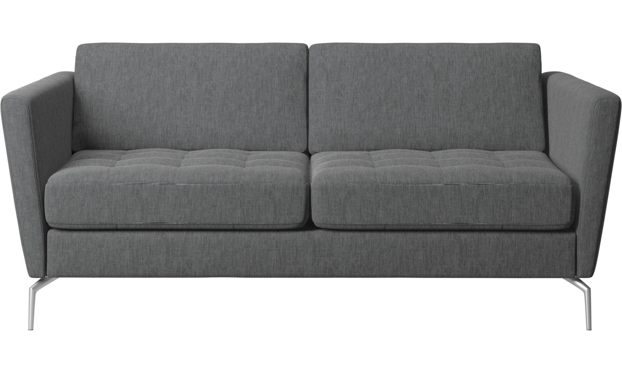 Unsere Neuheiten   Osaka Sofa, Getuftete Sitzfläche   Grau   Stoff
