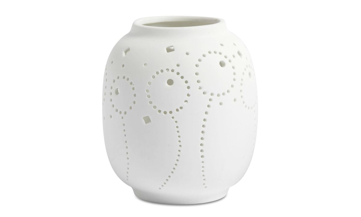 Candleholders - Dandelion d tealight holder - White - Ceramic