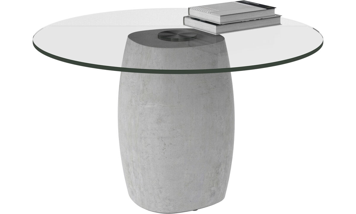 Coffee tables - Bilbao tavolino - rotonda - Chiaro - Cristallo