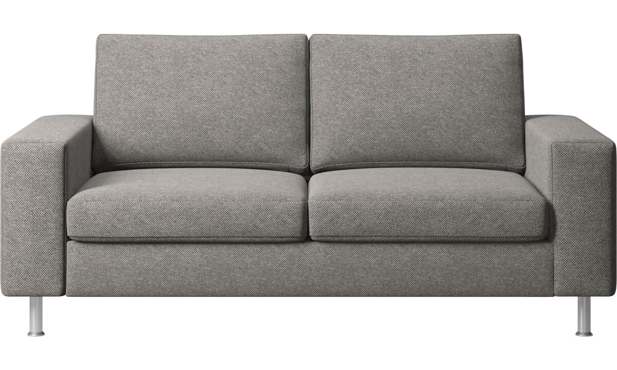 2 seater sofas - Indivi 2 sofa - Grey - Fabric