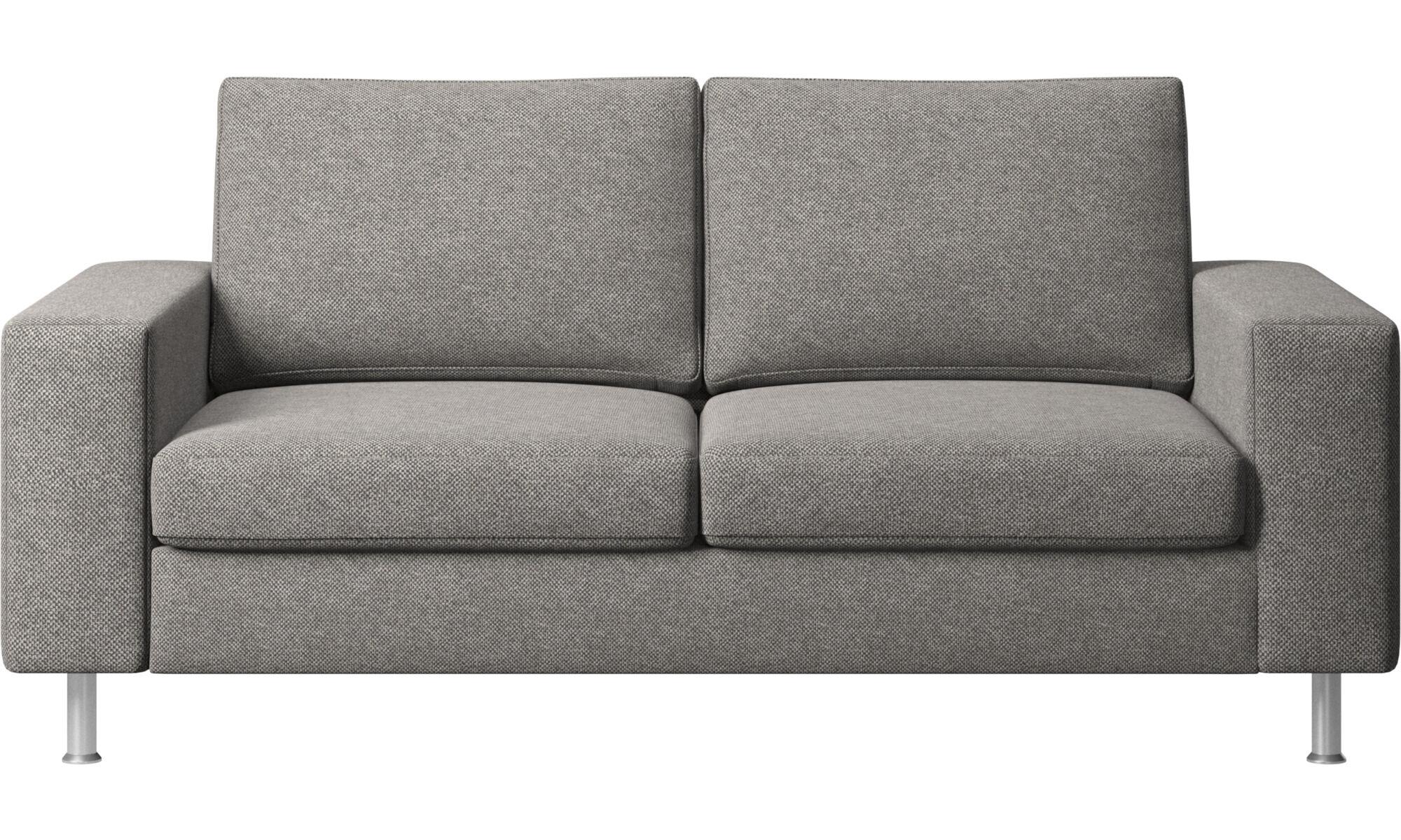 2 Sitzer Sofas   Indivi 2 Sofa   Grau   Stoff ...