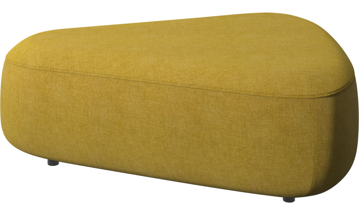 Footstools - Ottawa triangular pouf - Yellow - Fabric