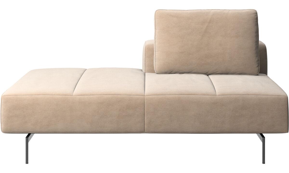 Sofaer med hvilemodul - Amsterdam modul til sofa, ryglæn højre, open end venstre - Beige - Stof