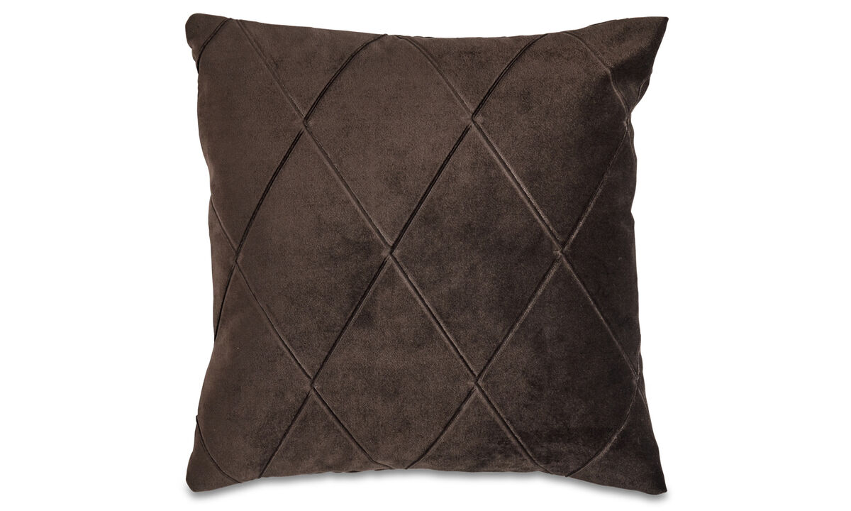 Patterned cushions - Harlekin cushion - Brown - Fabric