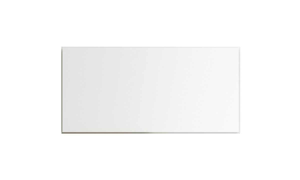 Wall systems - Lugano wall mounted cabinet with drop-down door - White - Lacquered