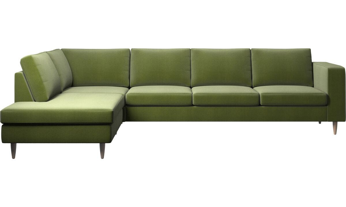 Lounge Sofas - Indivi Ecksofa mit Loungemodul - Grün - Stoff