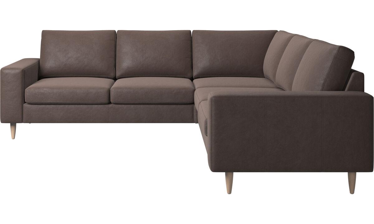Corner sofas - Indivi corner sofa - Brown - Leather