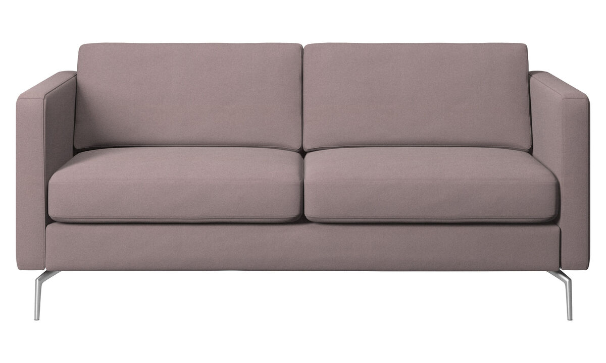 2-sitzer Sofas - Osaka Sofa, klassische Sitzfläche - Lila - Stoff